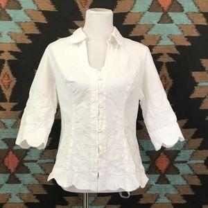 Gretty Zueger White Cotton Top-Size XL